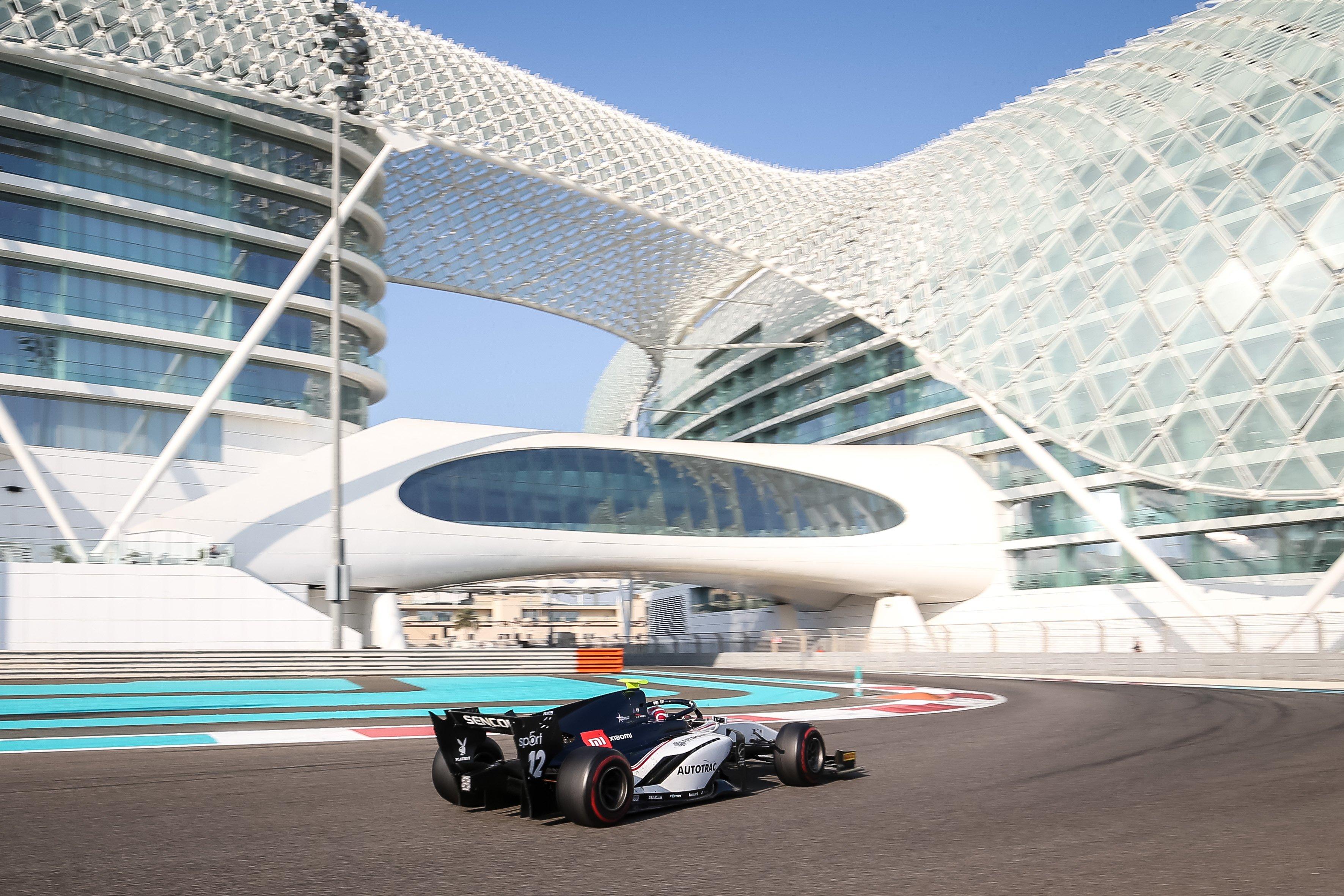 Делетраз занял первое место по итогам второго дня тестов «Формулы-2» в Абу-Даби, Шварцман на второй строчке