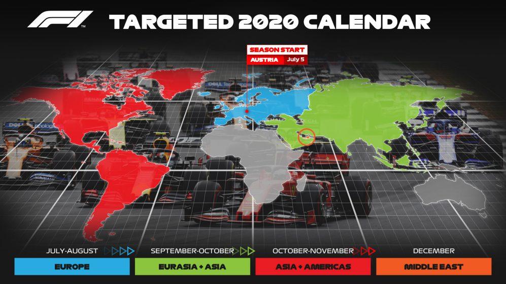 """Сезон-2020 """"Формулы-1"""" стартует в Австрии в первые выходные июля!"""