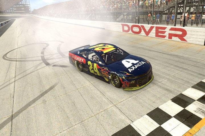 Уильям Байрон одержал третью победу в виртуальных гонках НАСКАР