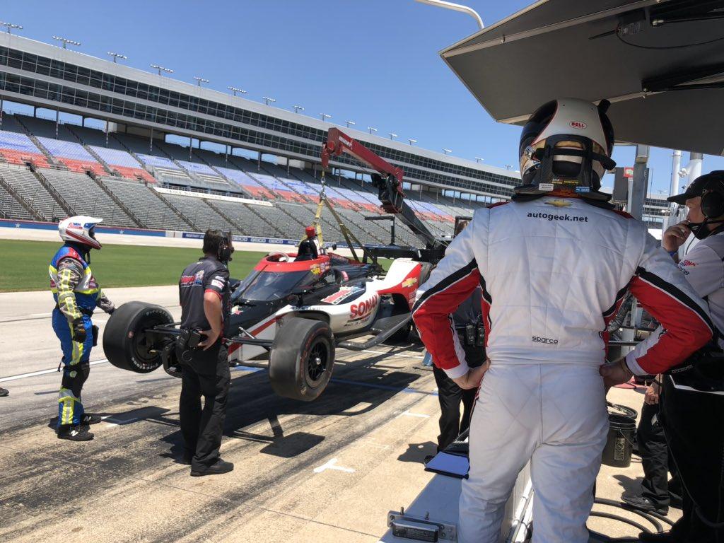 """Диксон стал быстрейшим в тренировке этапа """"Индикара"""" в Техасе"""