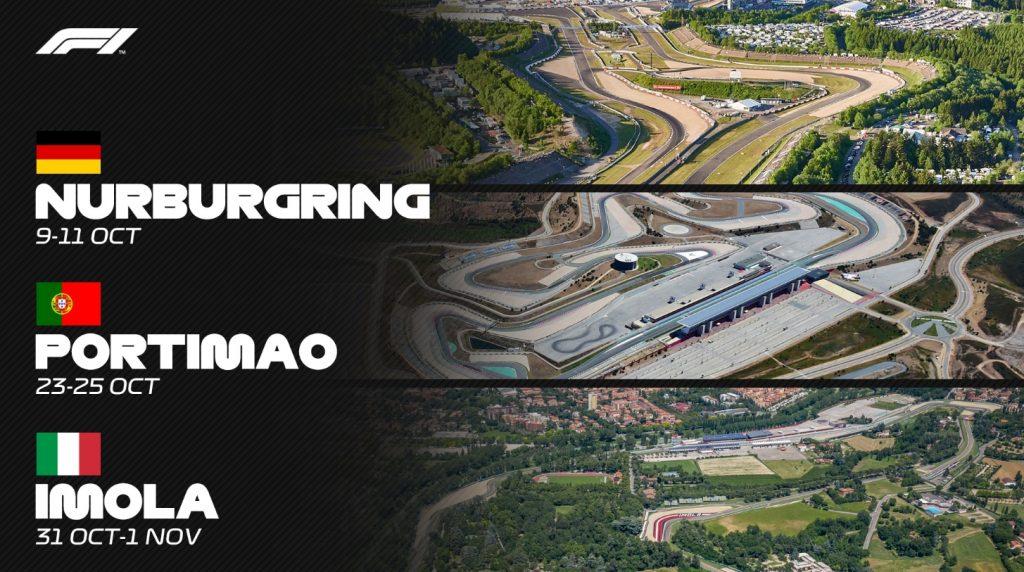 ОФИЦИАЛЬНО: Нюрбургринг, Алгарве и Автодром имени Энцо и Дино Феррари примут этапы Ф1 в 2020 году!