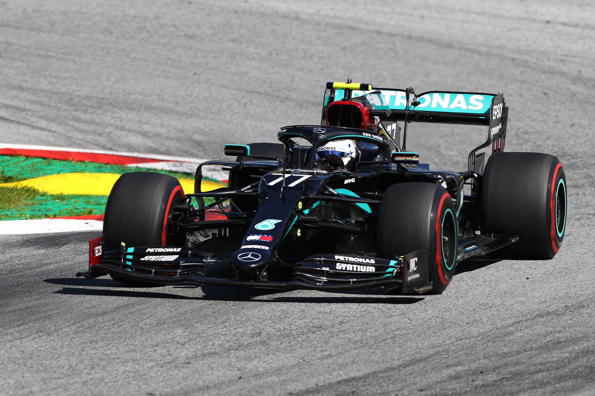 Валттери Боттас выиграл сумасшедший Гран-при Австрии, Леклер и Норрис дополнили подиум