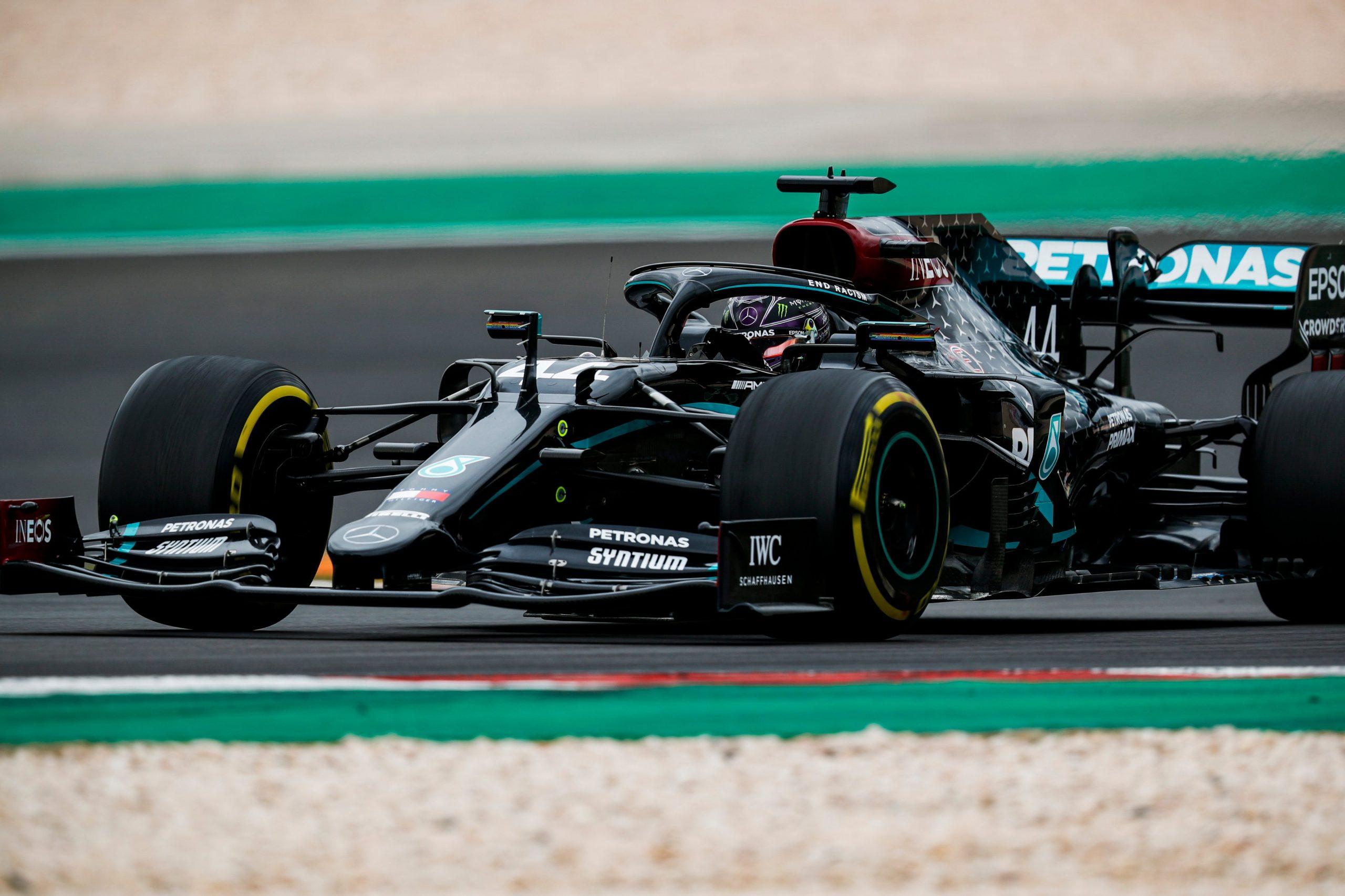 Хэмилтон выиграл Гран-при Португалии 2020 года и побил рекорд Шумахера, Квят финишировал последним